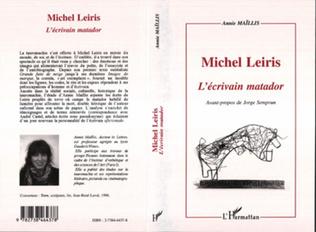 Couverture Michel Leiris l'écrivain Matador