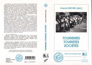 Couverture Tourismes, Touristes et Sociétés