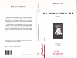 Couverture Solitudes Ordinaires