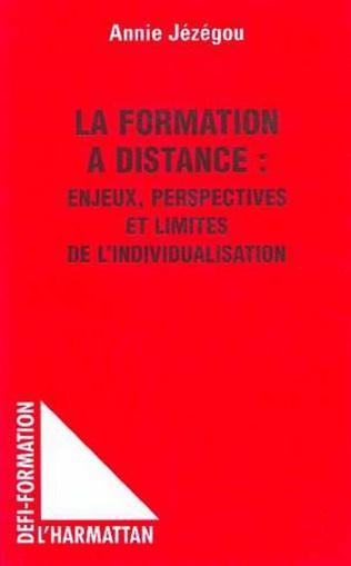 Couverture La formation à distance: enjeux, perspectives et limites de