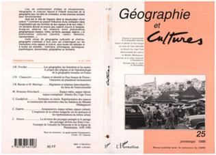 Couverture GEOGRAPHIE ET CULTURES N° 25