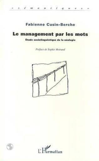 Couverture Le Management par les Mots