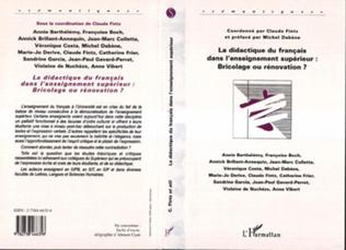 Couverture La Didactique du Français dans l'enseignement Supérieur : Br
