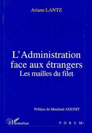 Couverture L'administration face aux étrangers