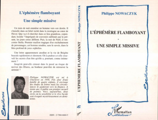 Couverture L'éphémere Flamboyant une Simple Missive