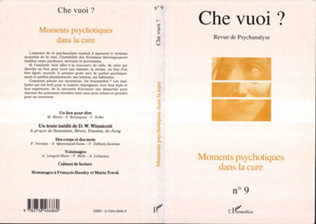 Couverture MOMENTS PSYCHOTIQUES DANS LA CURE