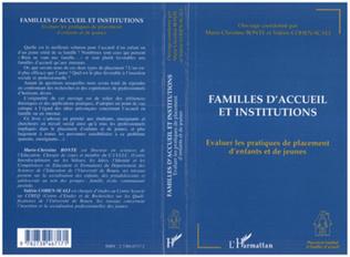 Couverture Familles d'accueil et Institutions