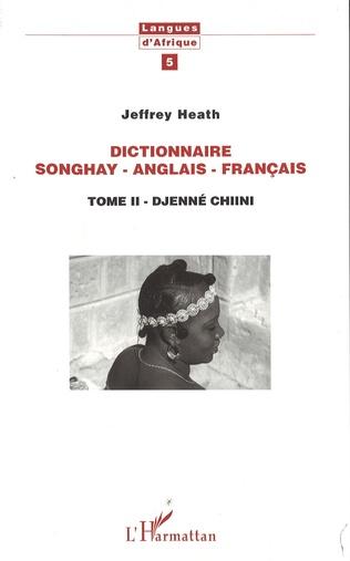 Couverture Dictionnaire Songhay-Anglais-Français