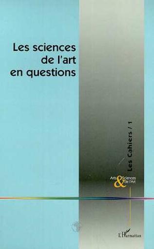 Couverture LES SCIENCES DE L'ART EN QUESTIONS