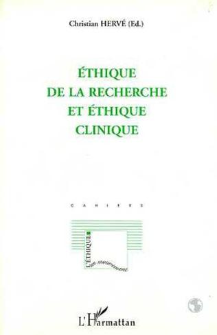 Couverture Éthique de la Recherche et Éthique Clinique