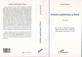 Couverture ARTISTES AMÉRICAINS À PARIS 1914-1939
