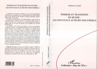 Couverture Energie et transition en Russie