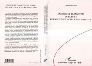 Couverture Energie et transition en Russie