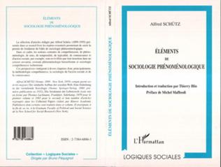 Couverture Éléments de Sociologie Phénoménologique