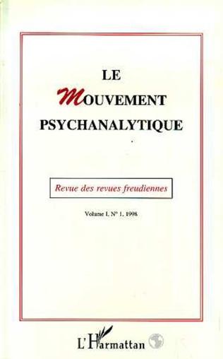 Couverture Le Mouvement Psychanalytique Vol. I, 1