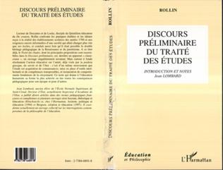 Couverture Discours Préliminaire du Traité des Études