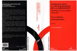 Couverture Introduction à une Sociologie de la Formation
