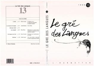 Couverture Le gré des langues n°13