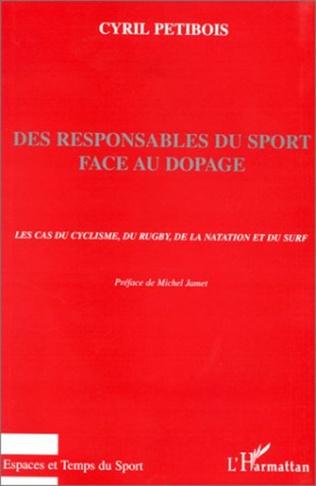 Couverture Des responsables du sport face au dopage