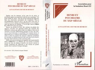 Couverture Henri Ey psychiatre du XXIe siècle