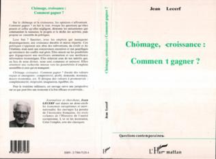 Couverture Chômage, Croissance Comment Gagner ?