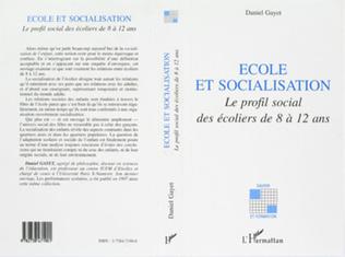 Couverture ÉCOLE ET SOCIALISATION