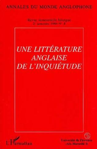Couverture Une littérature anglaise de l'inquiétude