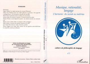 Couverture MUSIQUE, RATIONALITÉ, LANGAGE
