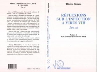 Couverture Réflexions sur l'infection à Virus VIH