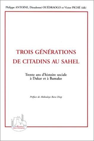 Couverture TROIS GÉNÉRATIONS DE CITADINS AU SAHEL