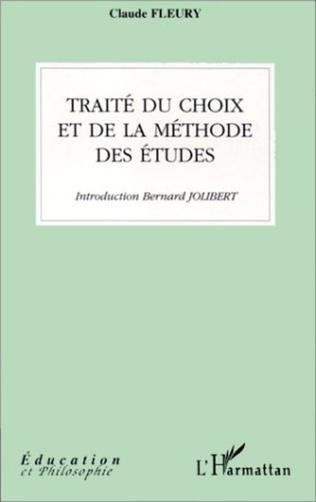 Couverture TRAITÉ DU CHOIX ET DE LA MÉTHODE DES ÉTUDES