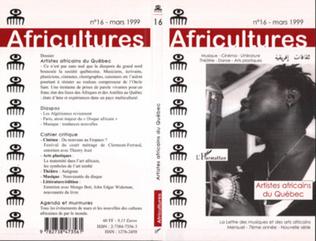 Couverture Artistes africains du Québec