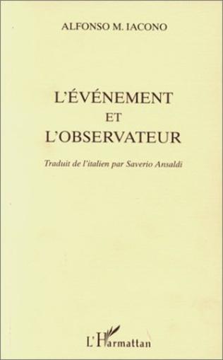 Couverture L'EVENEMENT ET L'OBSERVATEUR