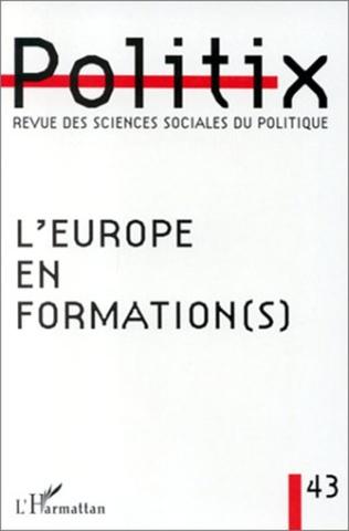 Couverture L'EUROPE EN FORMATION (S)
