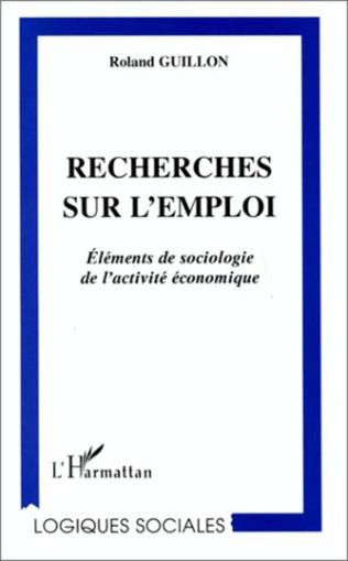 Couverture RECHERCHES SUR L'EMPLOI