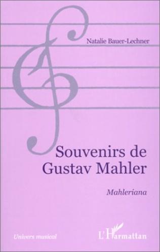 Couverture SOUVENIRS DE GUSTAV MAHLER