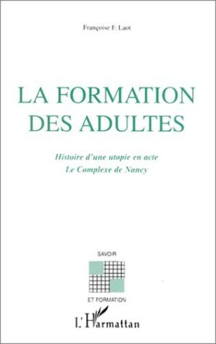 Couverture LA FORMATION DES ADULTES