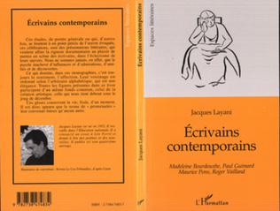 Couverture ECRIVAINS CONTEMPORAINS