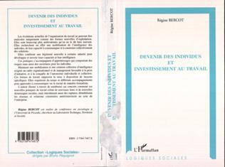 Couverture DEVENIR DES INDIVIDUS ET INVESTISSEMENT AU TRAVAIL