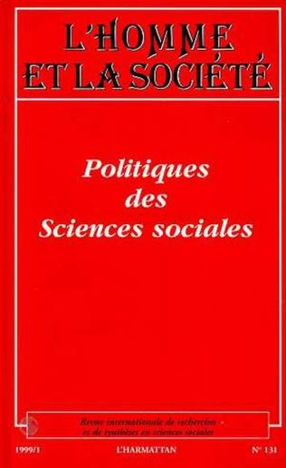 Couverture POLITIQUES DES SCIENCES SOCIALES