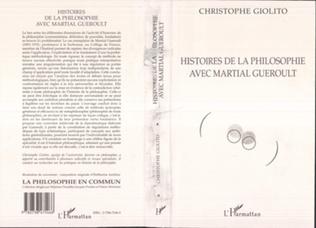Couverture HISTOIRES DE LA PHILOSOPHIE AVEC MARTIAL GUEROULT