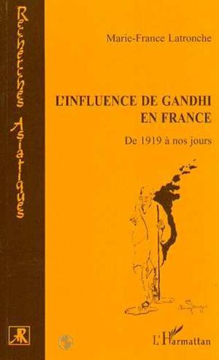Couverture L'INFLUENCE DE GANDHI EN FRANCE