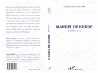 Couverture MANUEL DE KURDE