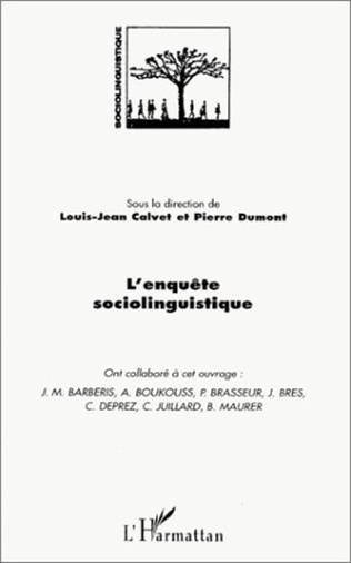 Couverture L' ENQUETE SOCIOLINGUISTIQUE