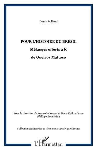 Couverture POUR L'HISTOIRE DU BRÉSIL