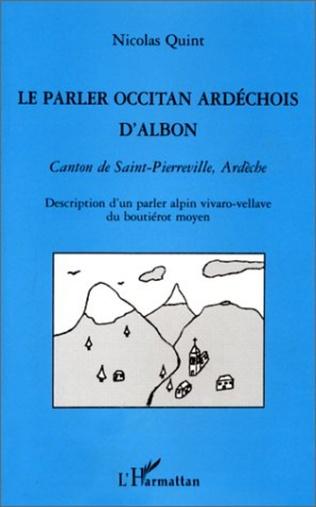 Couverture LE PARLER OCCITAN ARDECHOIS D'ALBON