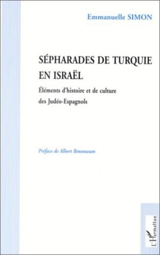 Couverture SEPHARADES DE TURQUIE EN ISRAEL