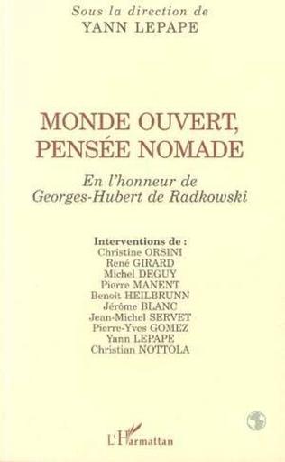 Couverture MONDE OUVERT, PENSÉE NOMADE