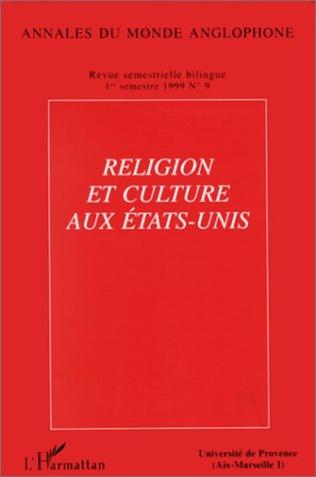 Couverture Religion et culture aux Etats-Unis