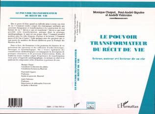 Couverture LE POUVOIR TRANSFORMATEUR DU RÉCIT DE VIE